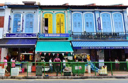 singaporean: SINGAPORE - NOV 17: Little India district on November 17, 2015 in Singapore. Little India is Singaporean neighborhood east of the Singapore River Editorial