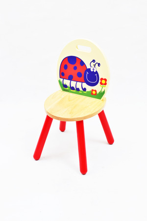 stool: Kids wooden stool isolated