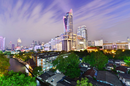 december 21: BANGKOK THAILAND - December 21 : Night view of Central World CTW the famous shopping malls in downtown of Bangkok on December 21,2015 Bangkok Thailand