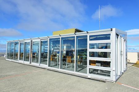 research facilities: Modern architecture - NOV 22 ,CoffeeShop at Mt.John astronomical observatory on November 22,2014 near Lake Tekapo ,New Zealand