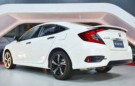 taillight: NONTHABURI - MARCH 23: NEW Honda Civic 2016 on display at The 37th Bangkok International Motor show on MARCH 23, 2016 in Nonthaburi, Thailand. Editorial