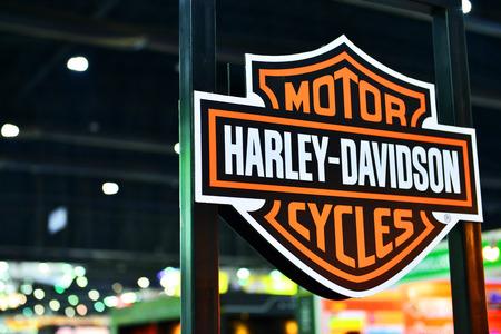 harley: MARCH 23, 2016 - Nonthaburi, Thailand :  Harley Davidsonat The 37th Bangkok International Motor show