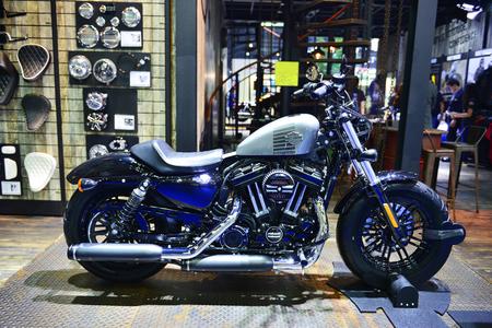 sportster: Bangkok , 23 March 2016 , Harley-Davidson Forty-eight ,Thailand The 37th Bangkok International Motor Show 2016 at Impact Arena, MaungThong Thanee, Bangkok