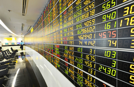 sell shares: Display of Stock market quotes thailand Editorial