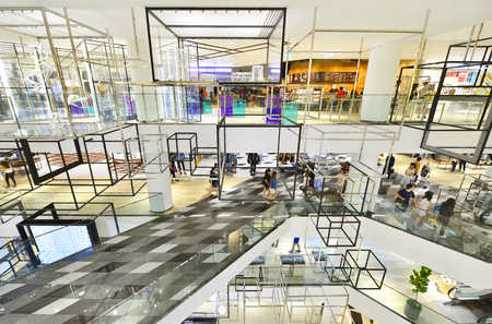 paragon: BANGKOK - MAY 28: Interior in Siam Discovery and the new concept is new The Biggest Arena of Lifestyle Experiments. On May 28, 2016, it is a shopping mall in the big centres Bangkok, Thailand Editorial