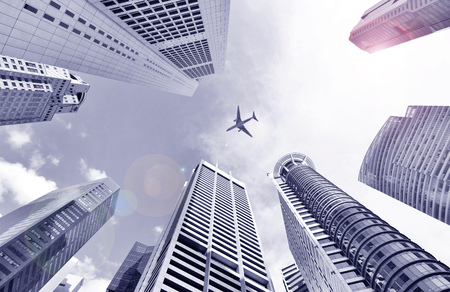 significantly: Central Business District in Singapore. Banking in Singapore is a service industry that has grown significantly in recent years. Singapore is home to over 200 banks. Stock Photo
