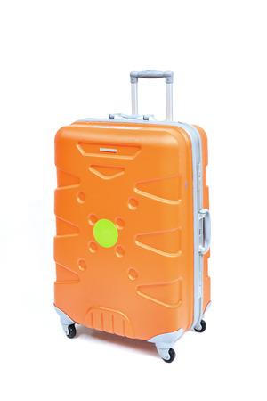 haversack: Travel luggage isolated on the white background Stock Photo