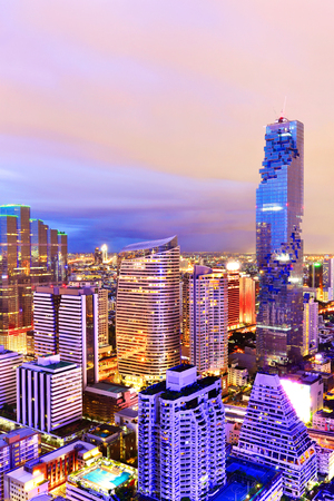 Bangkok view Mahanakhon is the new highest building in Bangkok. ,Thailand Stock Photo