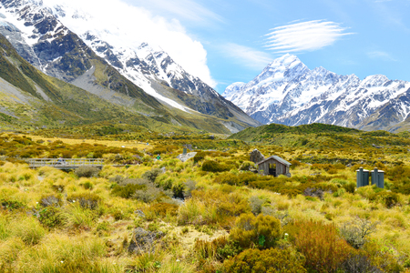 aoraki mount cook national park: Aoraki Mount Cook ,Beautiful view during walk to glacier in Mount Cook National Park, South Island, New Zealand