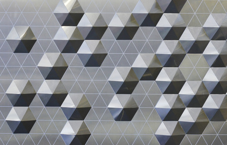 Abstract metal background. Geometric background with hexagons.