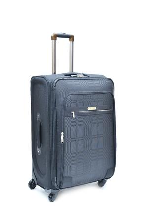 holdall: Travel luggage isolated on the white background Stock Photo