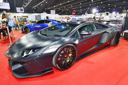 industrail: BANGKOK, THAILAND - JUNE 23 : Status of Lamborghini Aventador displayed in Bangkok International 2016 Auto Salon at June 23, 2016 Bangkok, Thailand. Editorial