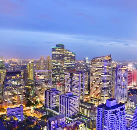 bangkok NIGHT: Bangkok night view in the business district.