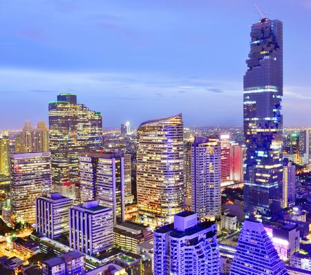 at the highest: Bangkok view Mahanakhon is the new highest building in Bangkok. ,Thailand Stock Photo