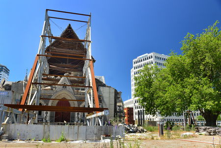 CHRISTCHURCH, NZ - NOV 24, 2014: after by earthquake on February 22, 2011 in Christchurch, New Zealand. The 6.3 earthquake hit at 12.53 pm one of the most costliest earthquake in the world