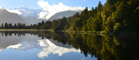 newzealand: Reflection of Lake Matheson