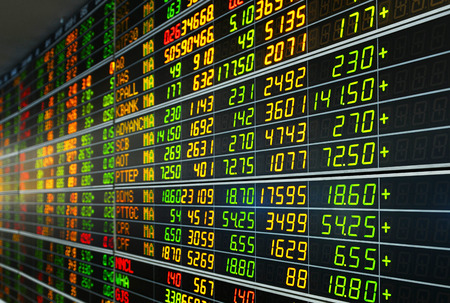 Bangkok, Thailand - August 7: Economic conditions of the Stock Exchange of Thailand on August 7, 2016 Editorial