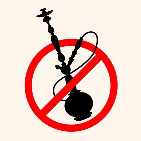 Stop smoking hookah Vector