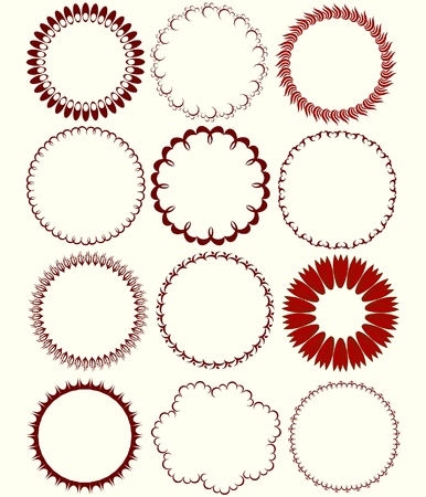 a set of circular patterns for the vector Stock Vector - 13088892