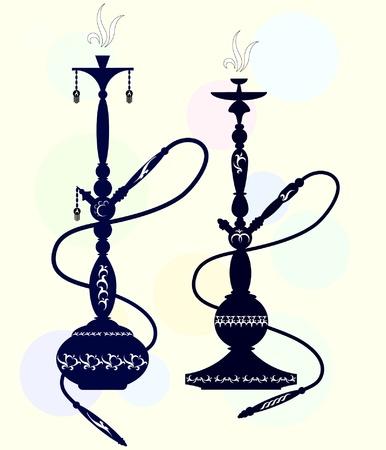 narghil�: due modelli con shisha orientali