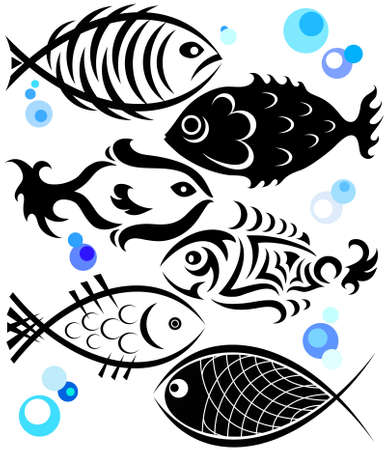 fish in a different style Vector