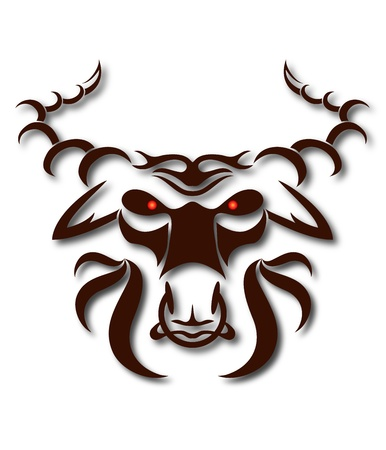 head of the evil buffalo for the vector Vector