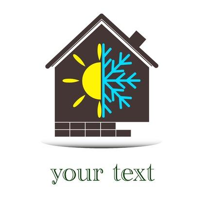 loodgieterswerk: huis, logo ontwerp voor het bedrijfsleven Stock Illustratie