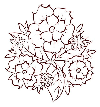 flowers and leaves of the vector Stock Vector - 16401913