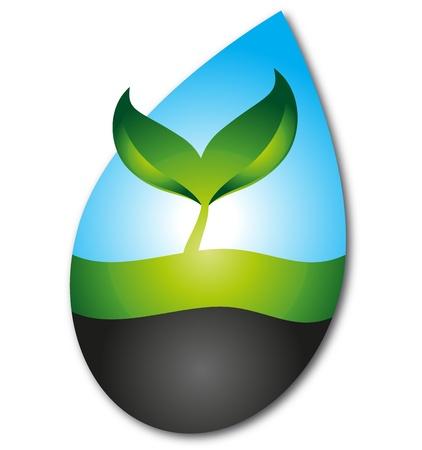 eco logo: logo design for eco company