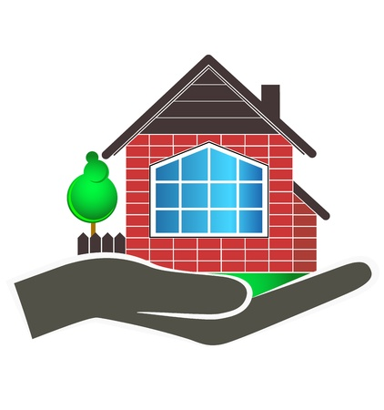house design on hand for business Vector