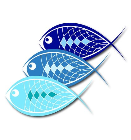 design for business, a few fish Vector