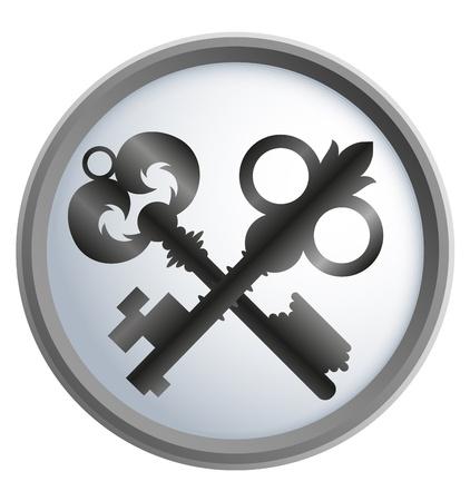 design business two antique keys Stock Vector - 17169920