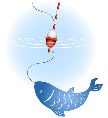 Image fishing for business, fish, float Vector