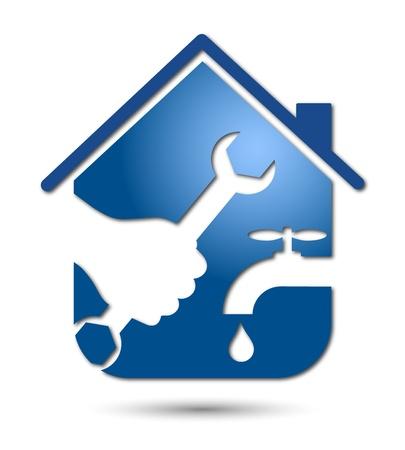 servicios publicos: reparaci�n de fontaner�a y dise�o de tuber�as para los negocios Vectores