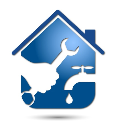 loodgieterswerk: reparatie loodgieterswerk en sanitair ontwerp voor zakelijke Stock Illustratie