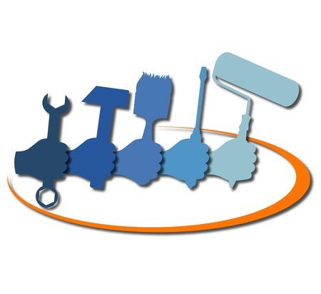 logotipo de construccion: Diseño para el negocio de la construcción, herramientas