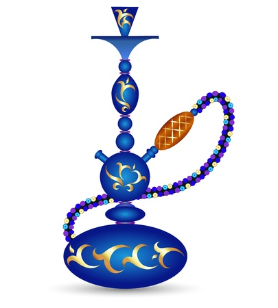 hookah: hookah with oriental pattern for the vector