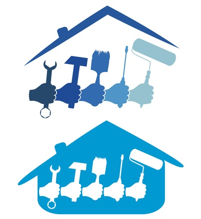 design for the home repair business Stock Vector - 17589720