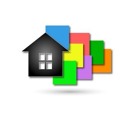 비즈니스, 가정의 이미지를 디자인 일러스트