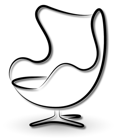 vector chair: chair silhouette vector business