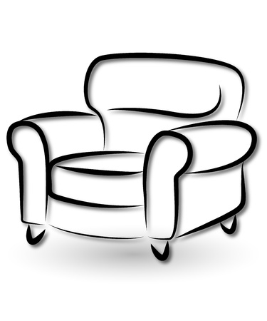 shop furniture: pieces of furniture for business, chair Illustration