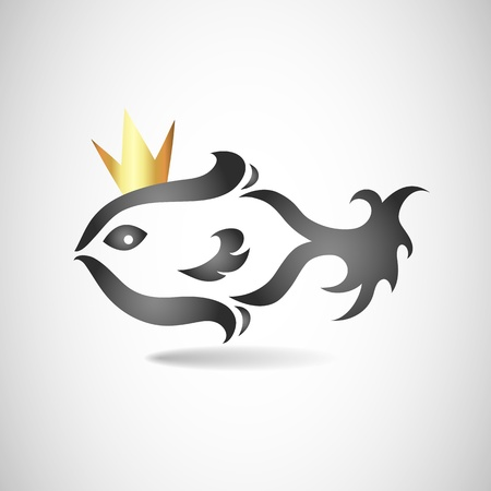 fish with a crown Vector