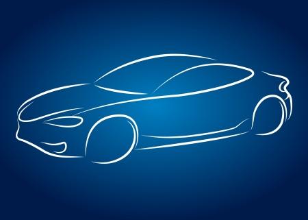 silueta coche: dise�o del coche para el negocio, silueta Vectores
