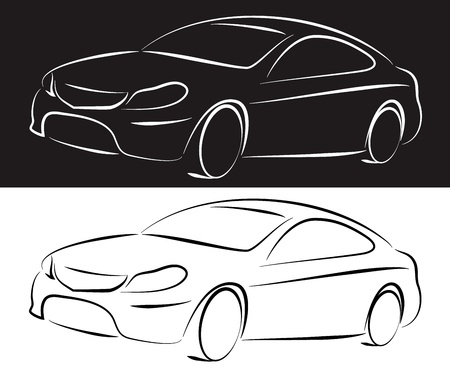 silhouette of a car for business Vector