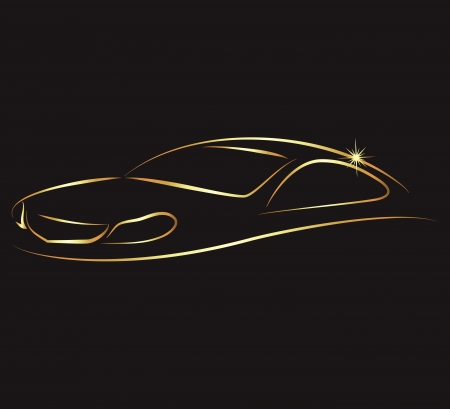 entwerfen ein Auto für Geschäft, Vermietung und Service