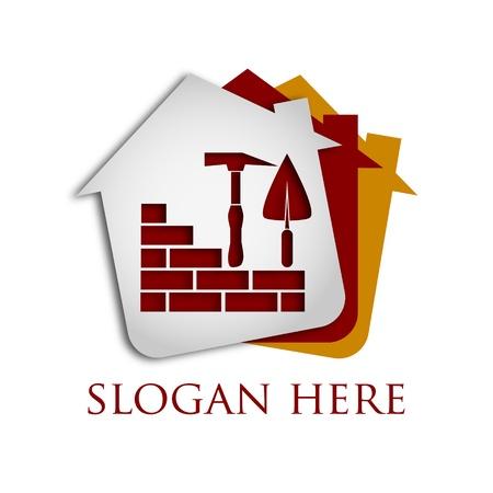 logotipo de construccion: la construcci�n de casas y edificios, dise�o para los negocios