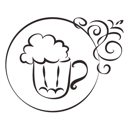 beer mug and sign with the pattern Stock Vector - 18902890