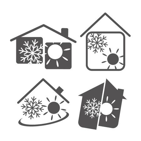 szigetelés: légkondicionáló a házban, a design az üzleti Illusztráció