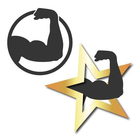 몸 건물 및 피트니스에 대한 상징 세트