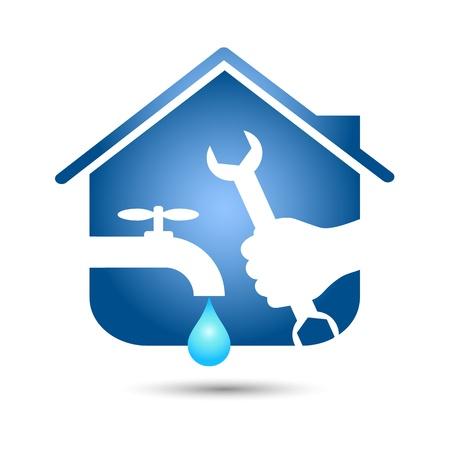 namecard: repair plumbing design for business Illustration